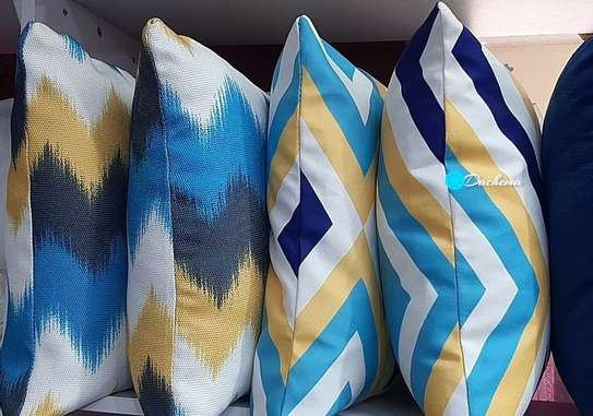 decorated blue throw pillows image 1