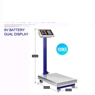 tcs electronic price platform scale 100kg. image 1