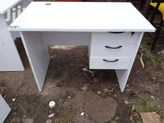 Commercial furniture office table white colour image 1