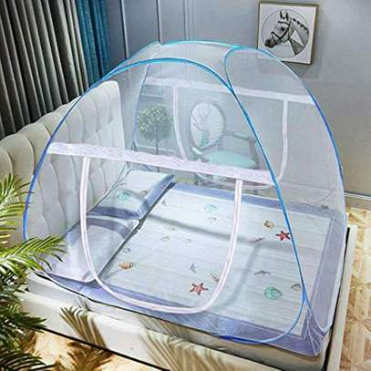 Tent Mosquito Net For All Types Of Beds 5 by 6 - Blue image 1