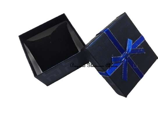 Dark Blue Gift Boxes With Cover Ribbon image 2