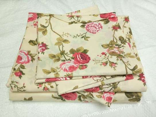 flowery red bed sheet image 1