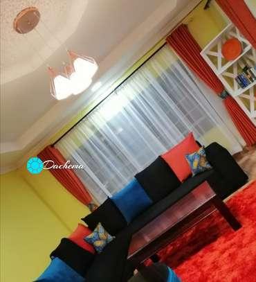 orange linen curtains image 1