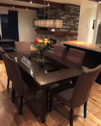 Modern six seater dining set/Dining tables image 1