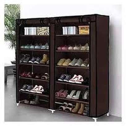 Elegant comfortable two column shoe racks image 1