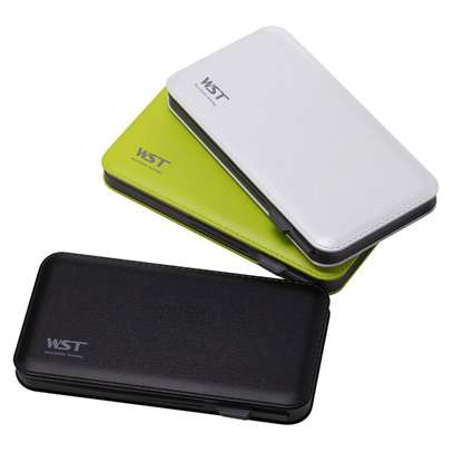 WST 12000mah Power Bank Built-in Cable Portable Battery Charger image 3