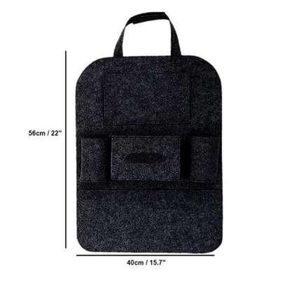 Multi-Pocket Car Back Seat Storage Organizer Hang Black (blaCK image 1