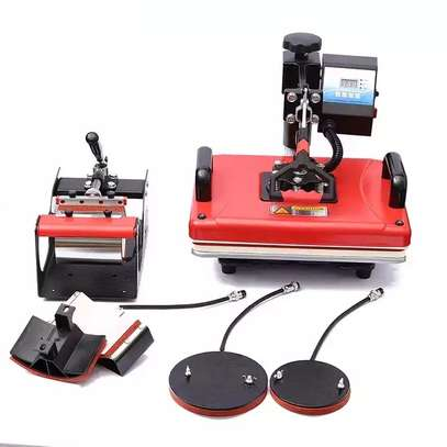 30×38 SWING AWAY Fire Red Heat Press Machine image 1
