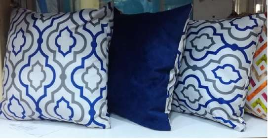 Matching Navy blue throw pillows image 1