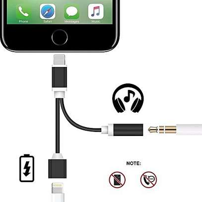 iPhone  Lightning to 3.5mm Audio Charge Earphone Jack Adapter Cable- Sprtjoy 2 in 1 Lightning Charging Port for the iPhone 7 7 Plus 6S 6 iPod iPad