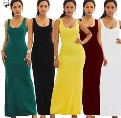 Monochrome vest dress maxi image 1