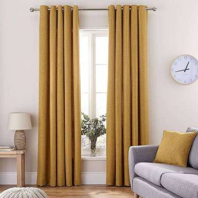 Mustard Yellow Linen Curtains image 3