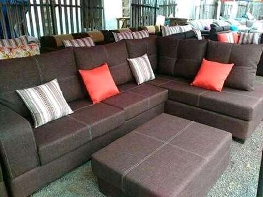 Sofa L shape with Puff.