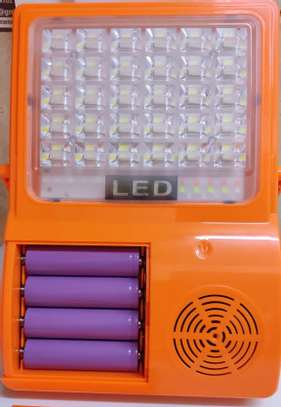 3 IN 1 Bluetooth solar LED flood light speaker rechargeable portable phone charger image 4