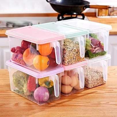Rectangular cereals container image 3