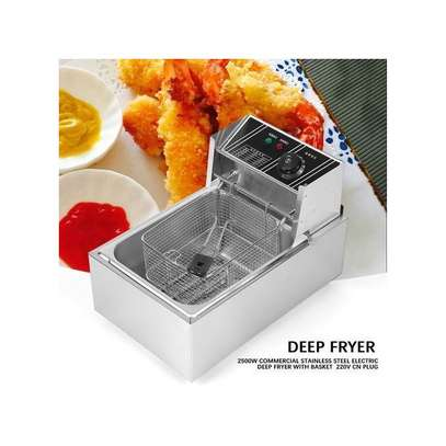 6L 2500W Commercial Stainless Steel Electric Deep Fryer With Basket 220V CN Plug image 1