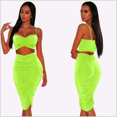 Two Piece Set | Ruched Skirt image 1
