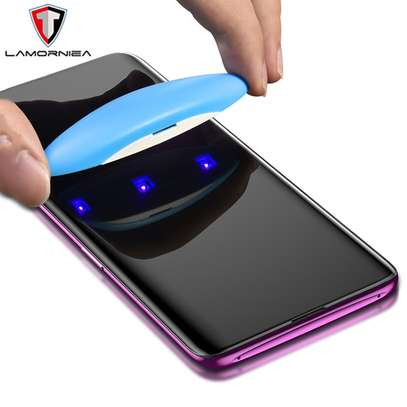 UV Light adhesive tempered glass screen protector for Galaxy S9 and S9 Plus + LED Kit image 6