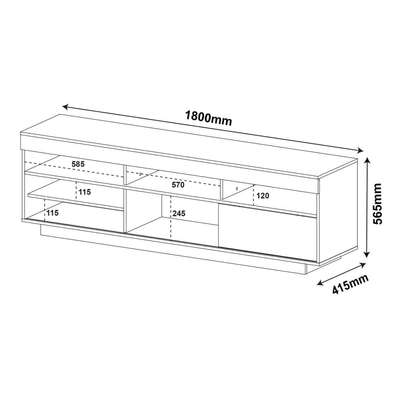TV STAND | TV TABLE RACK For TVs UP TO 60 INCHES image 2