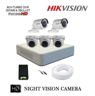 Full HD 1080p: 5 CCTV Camera Kit (with Night Vision + 1TB Storage + 100m Cable) image 1