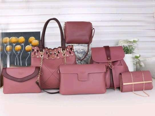 Trendy ladkes handbags 6 in 1 image 1