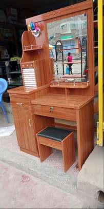 Dressing table with easy pull two drawers image 2