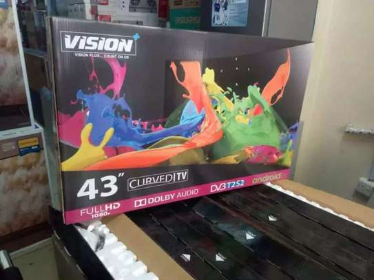 Vision 43inches smart  curved android tv