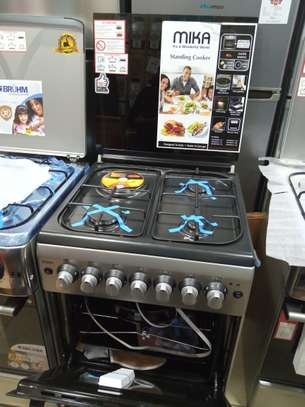 Mika standing cooker 3gas 1electric 60*60 color silver image 1