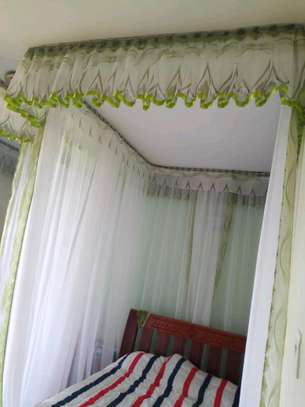 Brand new custom made Rail shears mosquito nets sliding like curtains fixed on the ceiling image 5