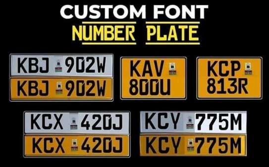 Customized Legal Number Plates image 1
