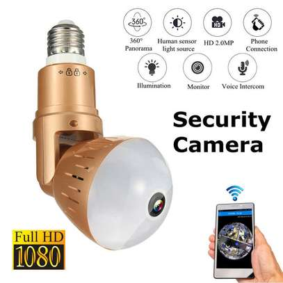 1080P HD WiFi IP Adjustable Panoramic Bulb Camera