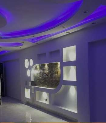 Gypsum Ceiling and TV Wall Unit