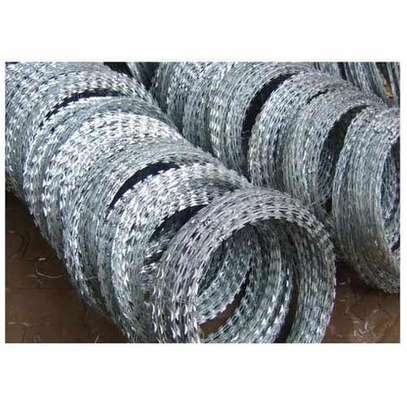 Double edged galvanized barbed wire