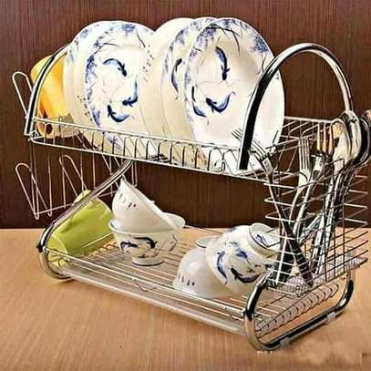 Two tier dish drainer image 1