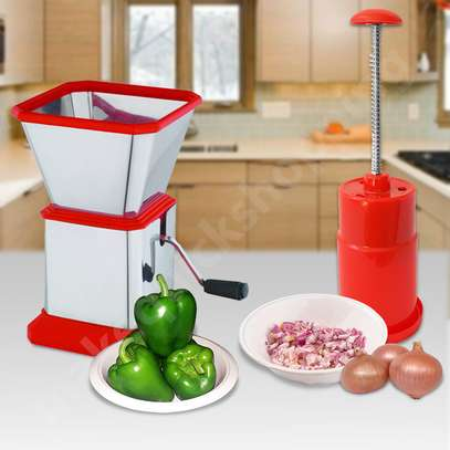 Combo Vegetable Onion Slap Chopper & Spice Herb Chilly Cutter image 1