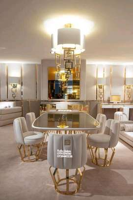 Latest dining table sets for sale in Nairobi Kenya/trendy dining tables for sale in Nairobi Kenya/six seater dining table set/Classic dining room designs/Latest dining table designs image 1