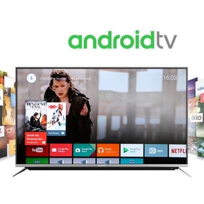 "Skyworth 55"" Class HDR 4K UHD Smart android LED TV image 1"