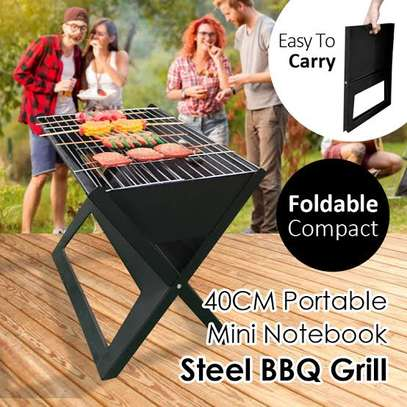 portable foldable charcoal grill image 2