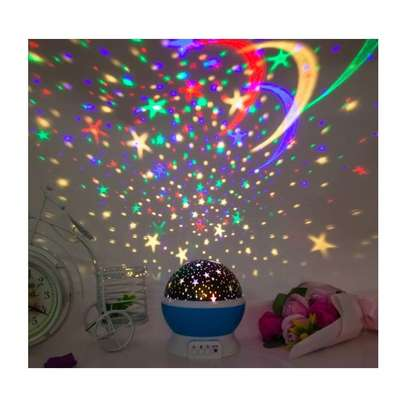 LED Projector Star Moon Nights Baby Night Lights Moon stars Degree Rotation 8 Color Changing Romantic Night Lighting Lamp image 1