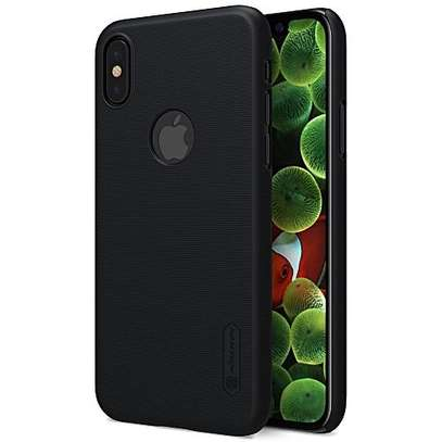 Nilkin super frosted,executive phone cover for iPhone xs-black image 1