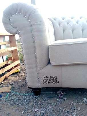 Three seater chesterfield sofas/beige sofas/modern sofas image 3