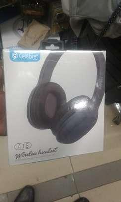 Celebrate A18 Deep Bass Wireless Headset Bluetooth Headphone image 1