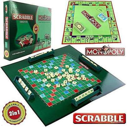 Scrumble and monopoly 2 in 1 family