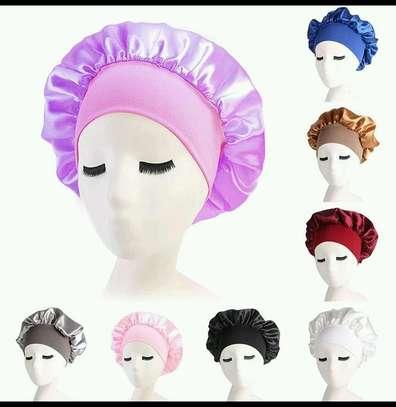 Plain satin bonnets image 1