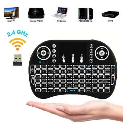 Wireless Mini Keyboard with Mouse Touchpad and Back-light for Android Box/ Smart TV/ Laptop - Black image 6