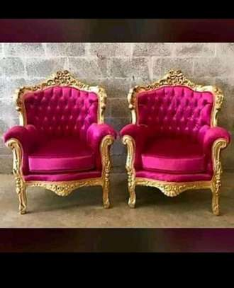 Elegant Timeless Antique Wingback Chairs image 1