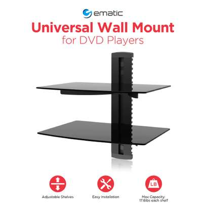 Ematic Adjustable 2 Shelf for DVD Player, Cable Box image 3