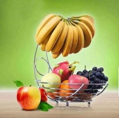 Metallic fruit rack holder image 1
