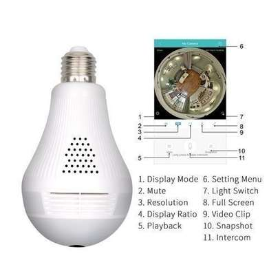 Nanny Cam Night Vision Camera 360 Degree Panoramic CCTV - BULB CCTV