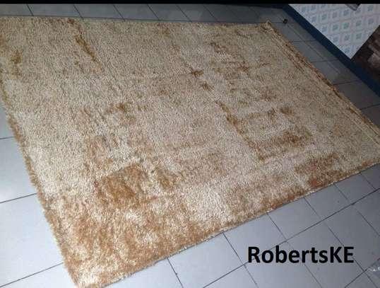 Elegant soft beige durable turkish carpet 5by8 image 1
